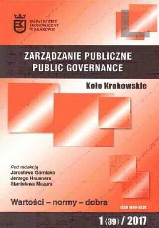 Zarządzanie Publiczne nr 1(39)/2017 - Ebook.