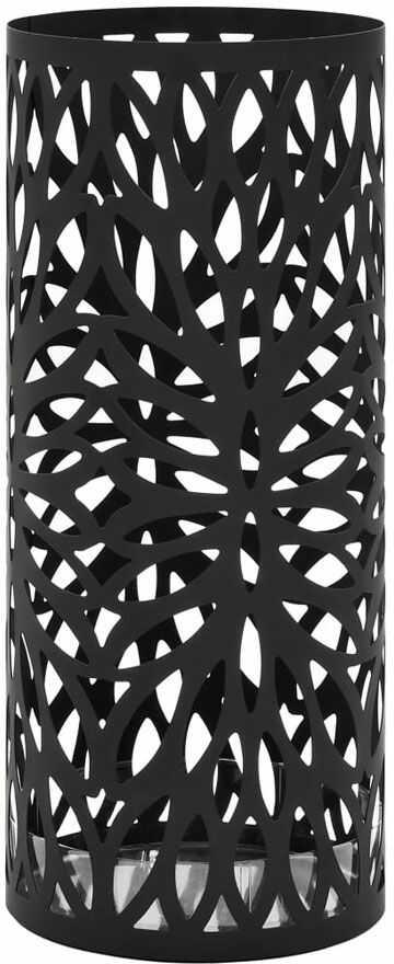 Czarny ażurowy stojak na parasole - Kaspo