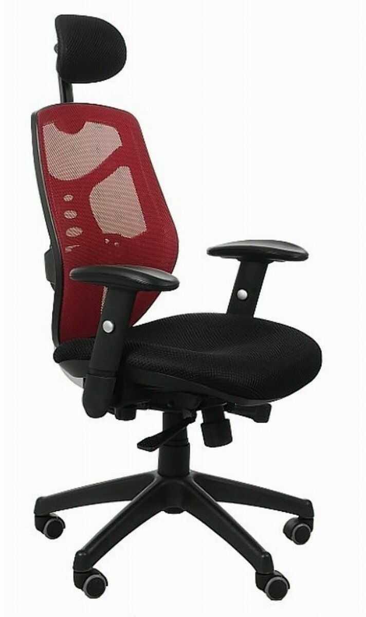 Fotel biurowy Spectrum HB NET czarno-czerwony SitPlus
