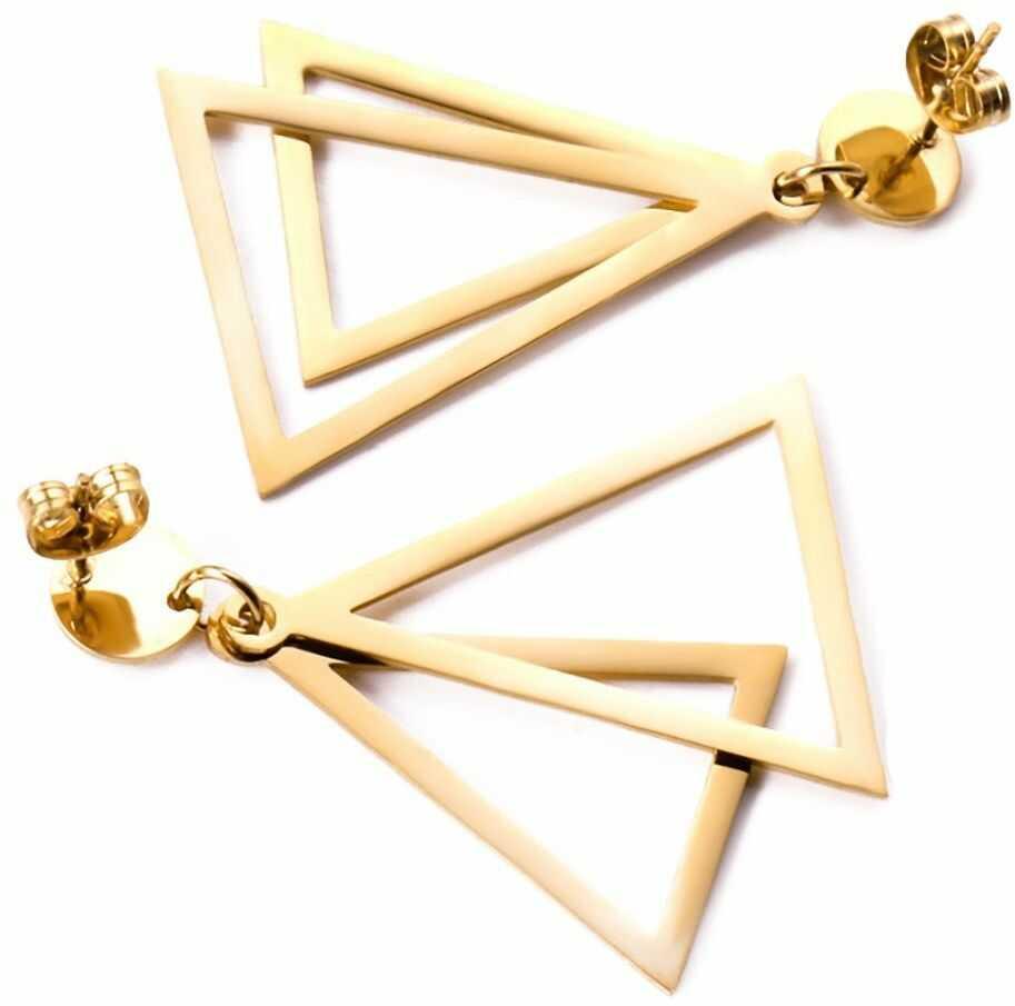 Kolczyki geometryczne trójkąty stal szlachetna