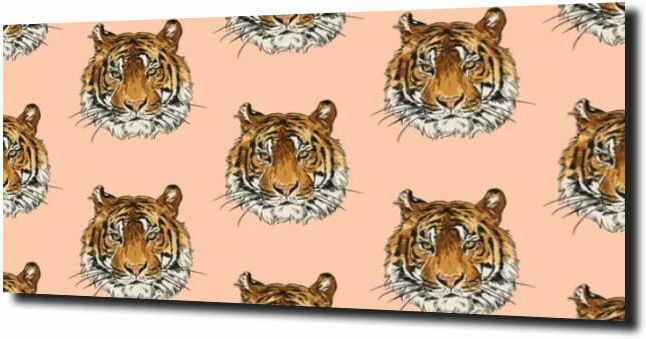 obraz na szkle, panel szklany Tygrys kolaż
