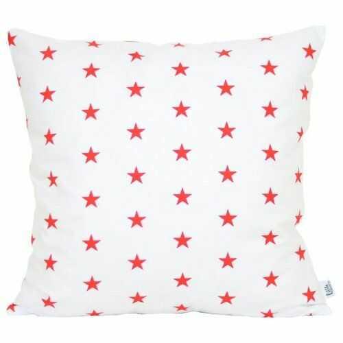 Poszewka dekoracyjna - Czerwone Małe Gwiazdki