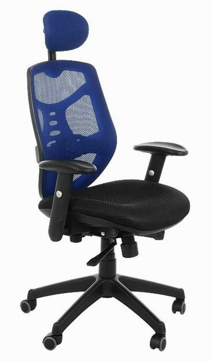 Fotel biurowy Spectrum HB NET czarno-niebieski SitPlus