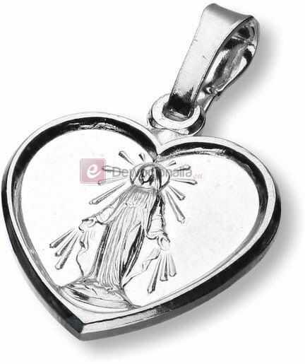Medalik srebrny - Serce M.B Niepokalana 2,0g