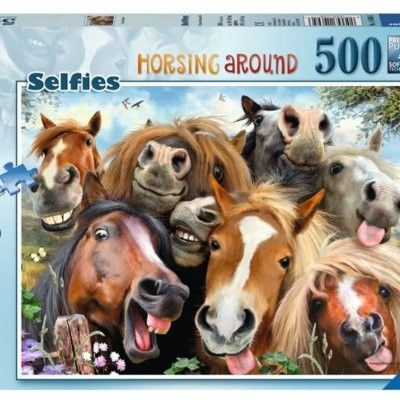 Puzzle Ravensburger 500 - Selfies No.1, Wesołe konie, Horsing Around
