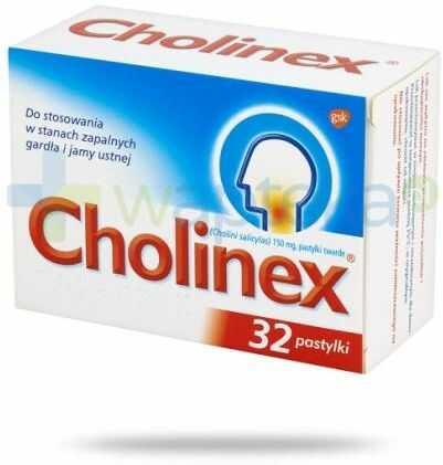 Cholinex pastylki do ssania na ból gardła - 32 sztuki