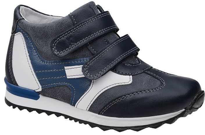 Trzewiki KORNECKI 4885 M Granatowe nieocieplane na rzepy Sneakersy