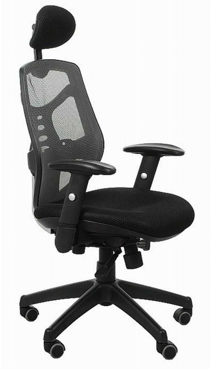 Fotel biurowy Spectrum HB NET czarno-szary (grafitowy) SitPlus