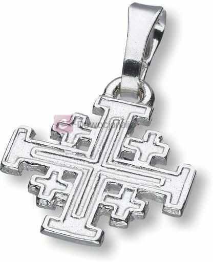 Krzyż Jerozolimski - srebrny 1,2g