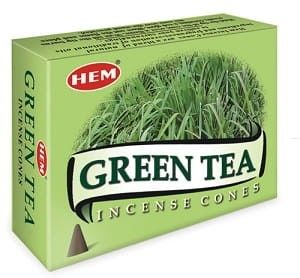 Kadzidełka Zielona Herbata Stożkowe HEM 10szt.
