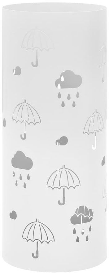 Biały pionowy ozdobny parasolnik - Istro 2S