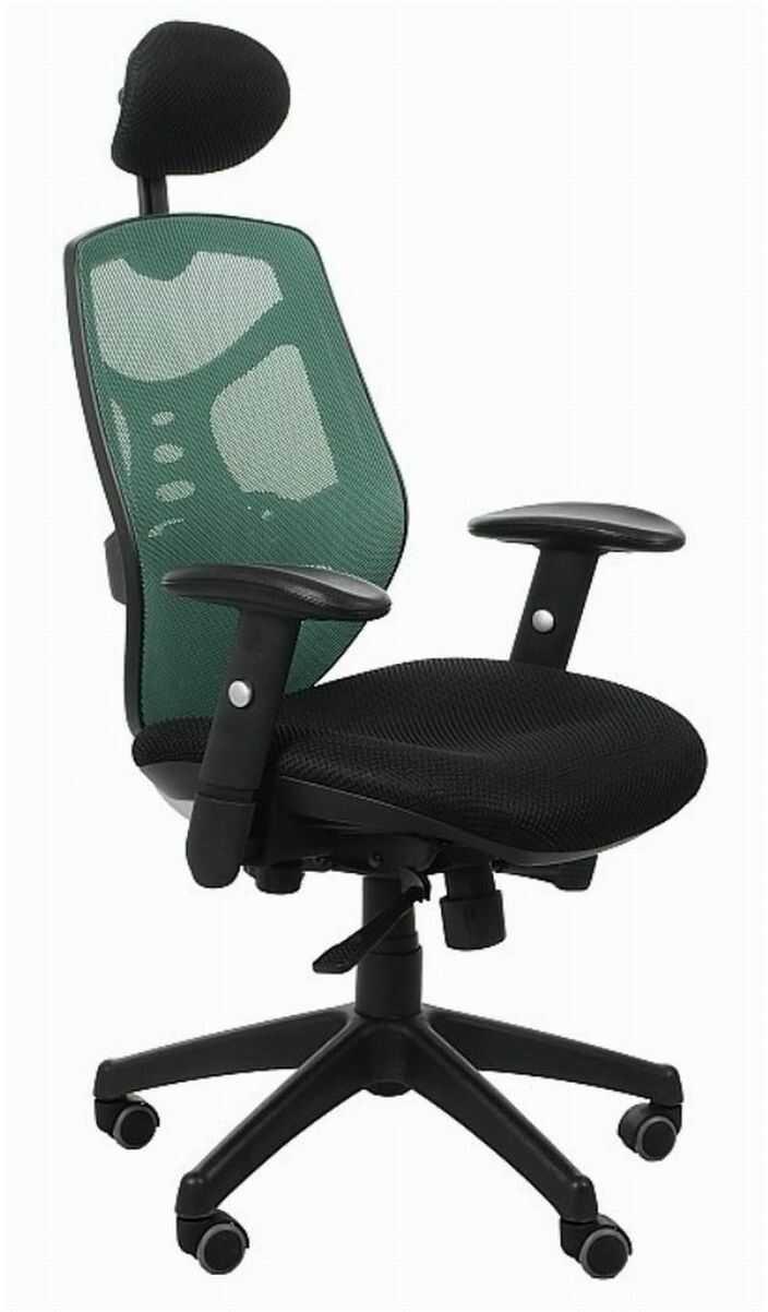 Fotel biurowy Spectrum HB NET czarno-zielony SitPlus