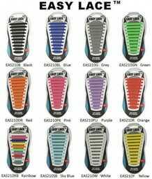 Sznurówki Silikonowe do Butów 12 Kolorów