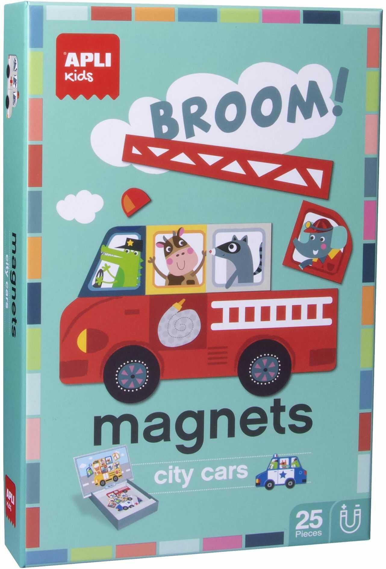 APLI magnetyczne samochody do gier dla dzieci różne