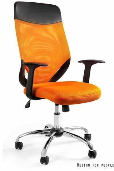 Fotel Biurowy Unique MOBI PLUS pomarańczowy