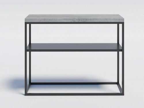 Industrialna konsola z metalową półką MILO2M Beton