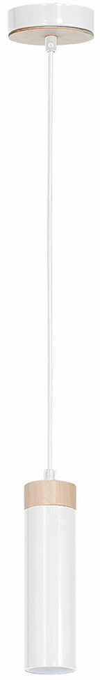 Milagro Pedro White MLP4252 lampa wisząca podłużna biała drewniane wykończenie 1xGU10 10cm