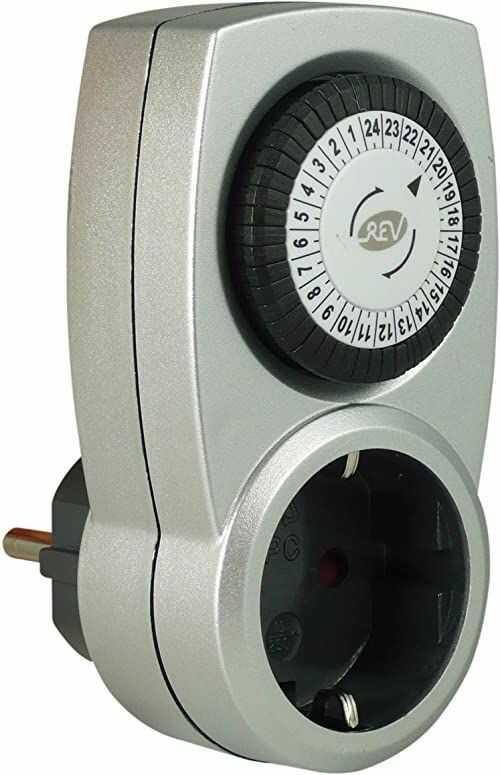 REV 0025200703 programator czasowy, mechaniczny, 48 czasów/dzień, 30 min. 3680 W, srebrny