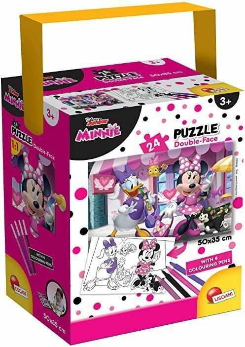 Liscianigiochi 86160 Disney a Tub Mini 24-Minnie puzzle dla dzieci, wielokolorowe