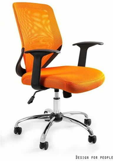 Fotel Biurowy Unique MOBI pomarańczowy