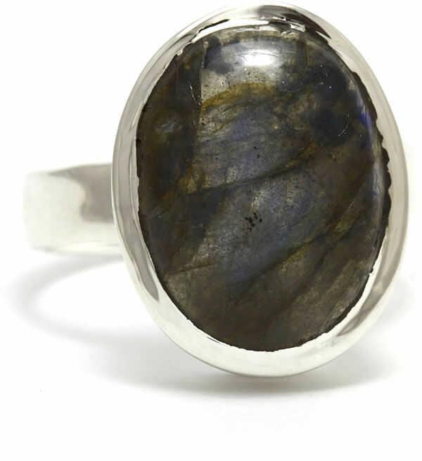 Kuźnia Srebra - Pierścionek srebrny, rozm. 15, Labradoryt, 5g, model