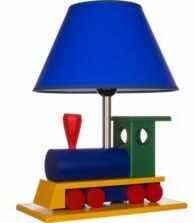 Lampa dziecięca stołowa Lokomotywa - wielokolorowa
