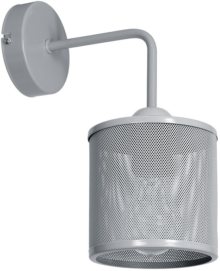 Milagro LOUISE GREY MLP639 kinkiet lampa ścienna klosz metalowa siatka szary 1xE27 30cm