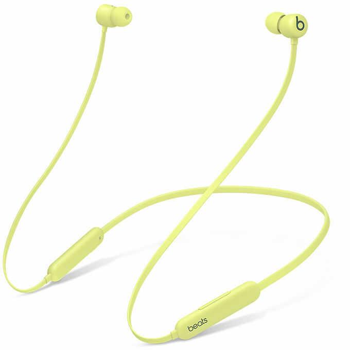 Beats Flex bezprzewodowe słuchawki douszne (żółty yuzu)