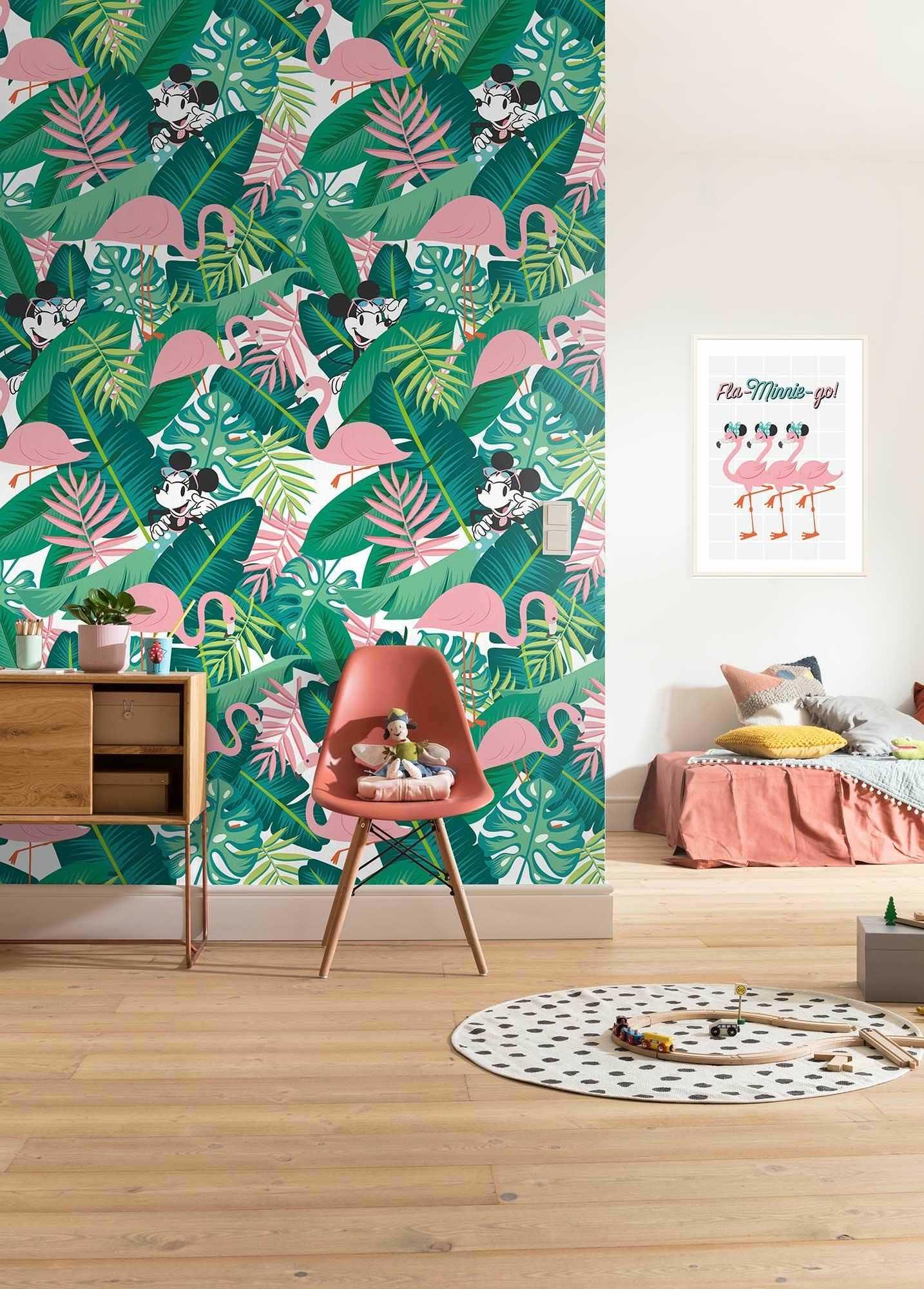 Komar Disney fototapeta Minnie Tropical - rozmiar 200 x 280 cm, pokój dziecięcy, dekoracja, tapeta