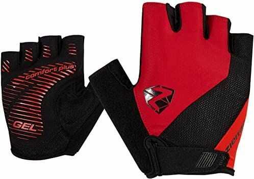 Ziener COLLBY rękawiczki rowerowe dla dorosłych, rower górski, rękawiczki sportowe krótkie palce, oddychające/amortyzujące, antypoślizgowe, red pop, 10,5