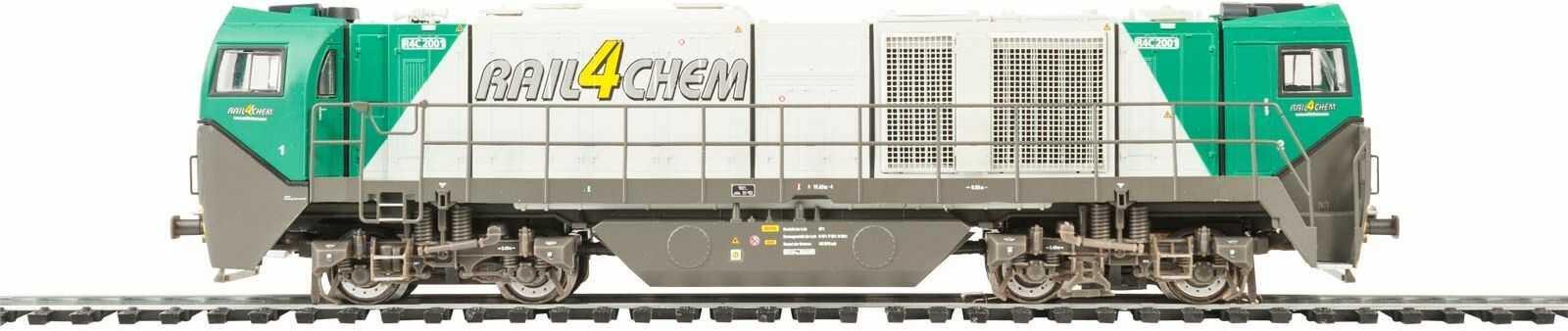 MEHANO 58910 R4C asymetryczny - DC Vossloh G2000, srebrny i szary, H0