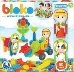 Bloko Bloko503541 52 szt. budowlane bloki do zębów Pik''Pod pudełko rolne, wielokolorowe