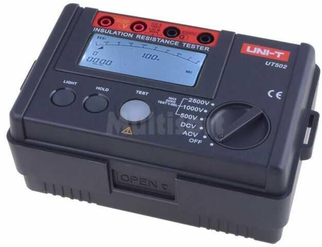 Miernik rezystancji izolacji UNI-T UT502A LCD, podświetlany 5MOhm 20GOhm