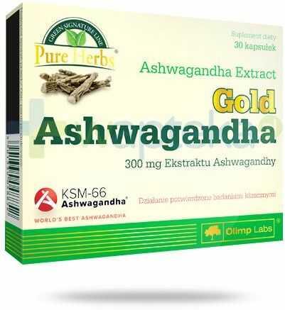 Olimp Ashwagandha Gold 300mg 30 kapsułek