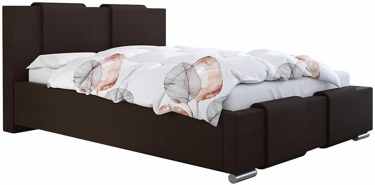 Tapicerowane pojedyncze łóżko 90x200 Lamar 2X - 48 kolorów