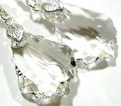 SWAROVSKI KOLCZYKI SREBRO - 22 mm - Barok Crystal