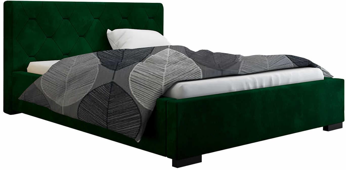 Łóżko tapicerowane z pojemnikiem 120x200 Abello 2X - 48 kolorów