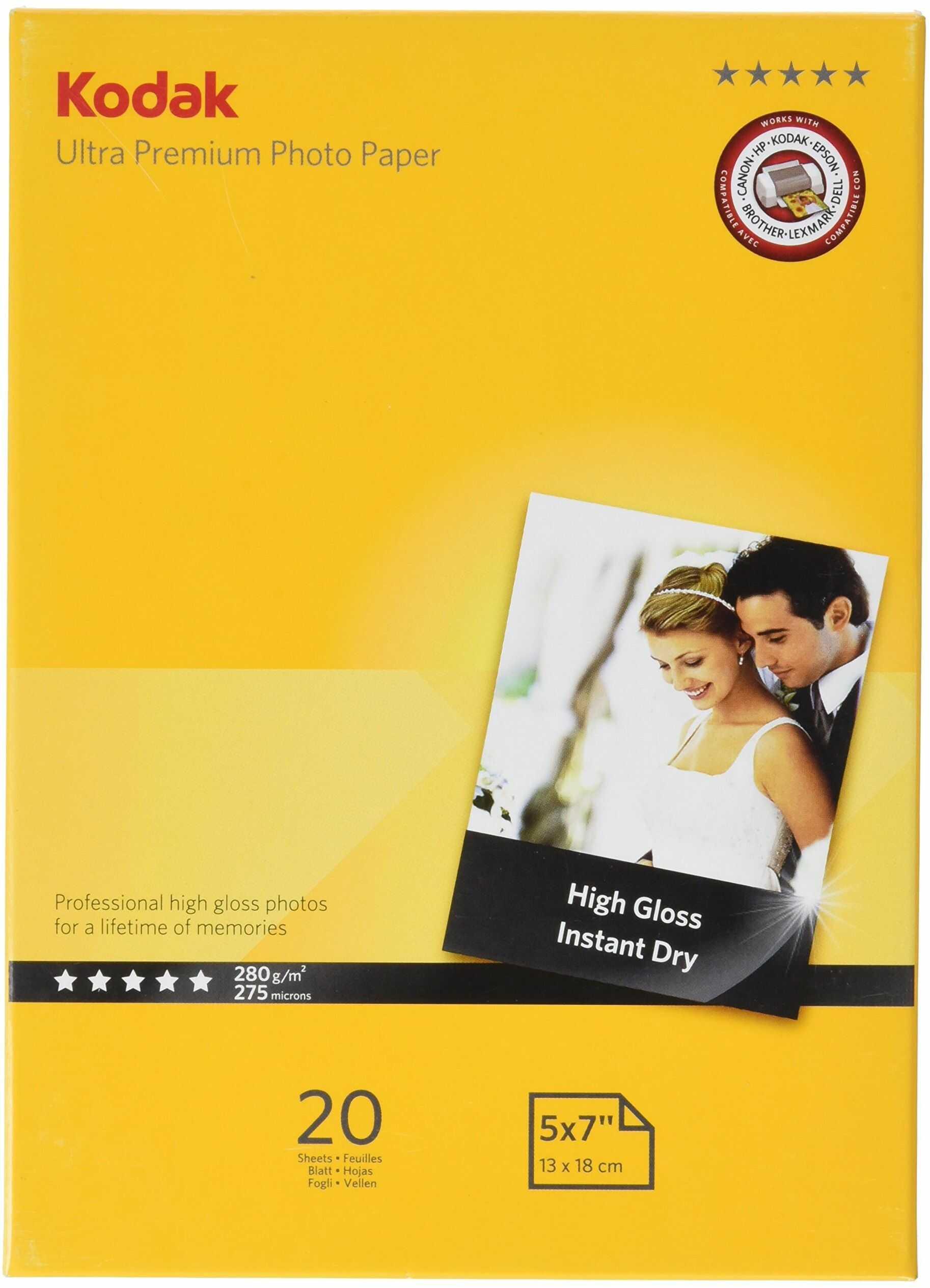 Kodak Supplies 185Z00360 papier fotograficzny 20 arkuszy 5 x 7