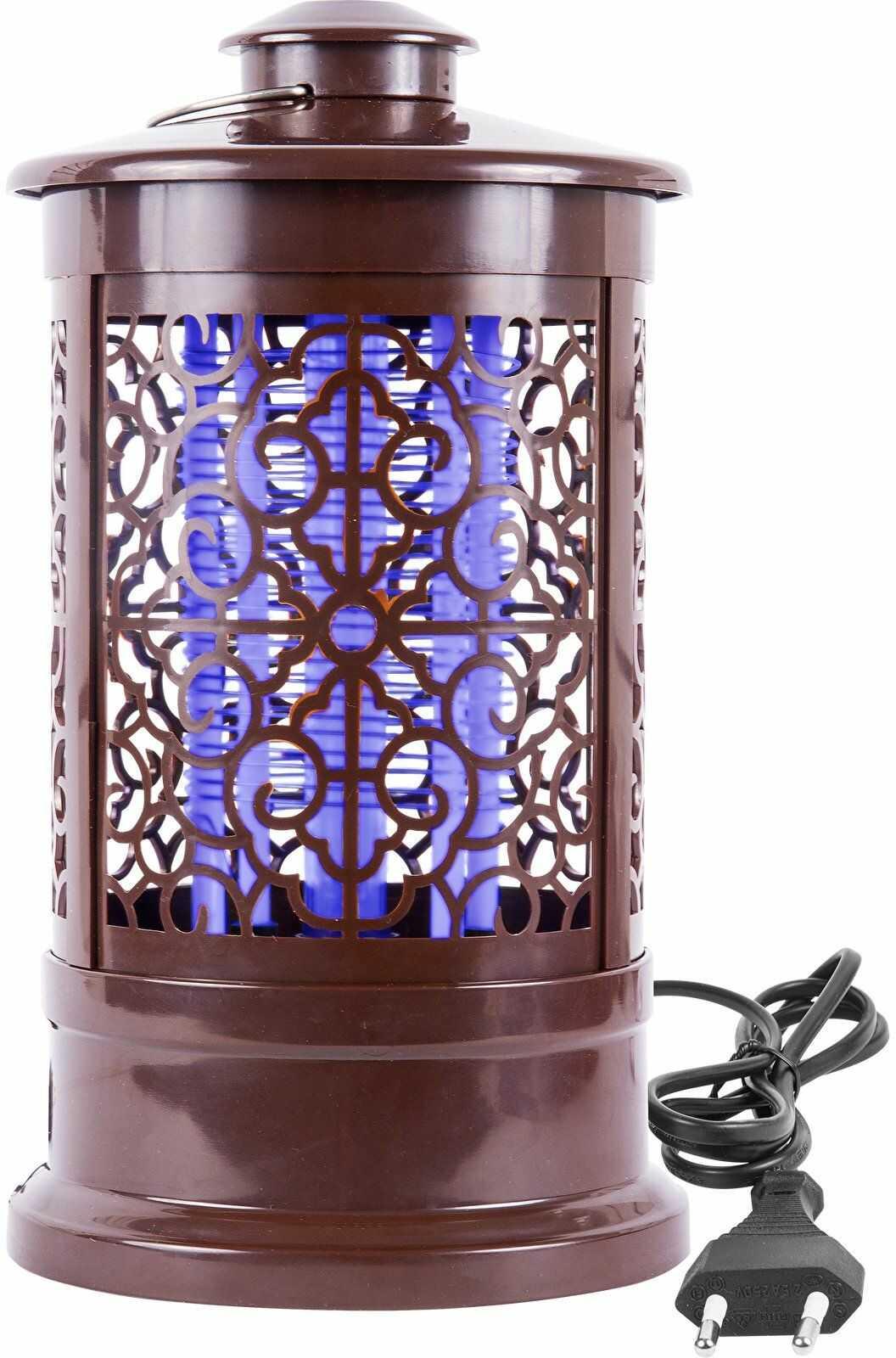 Lampa owadobójcza orientalna 3 W, 24 cm, brązowa