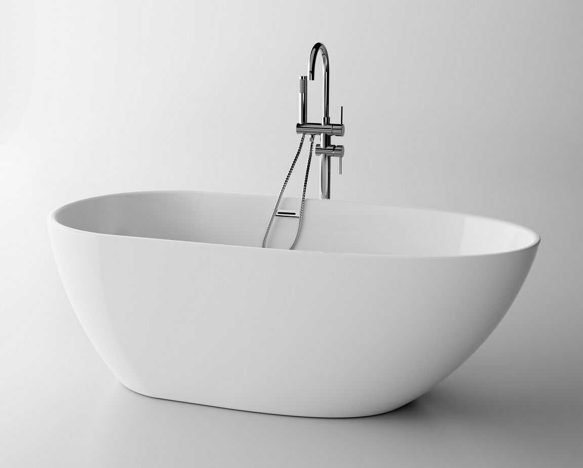 The North Bath Loki wanna wolnostojąca 130X70cm + syfon Klik-klak 6402-1301