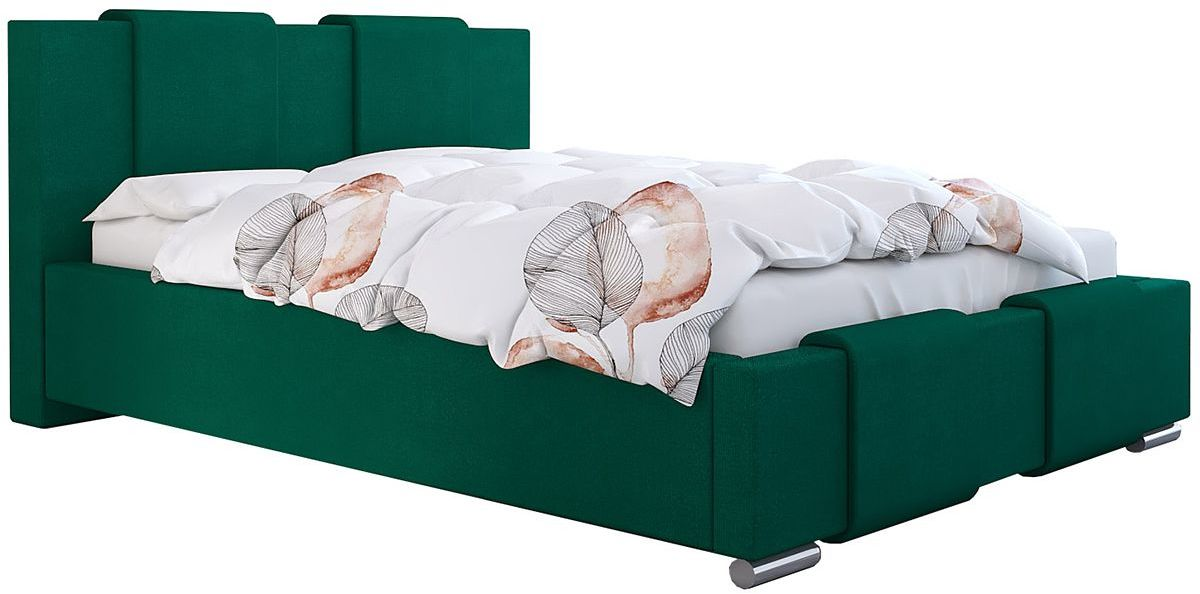 Jednoosobowe łóżko ze schowkiem 120x200 Lamar 2X - 48 kolorów