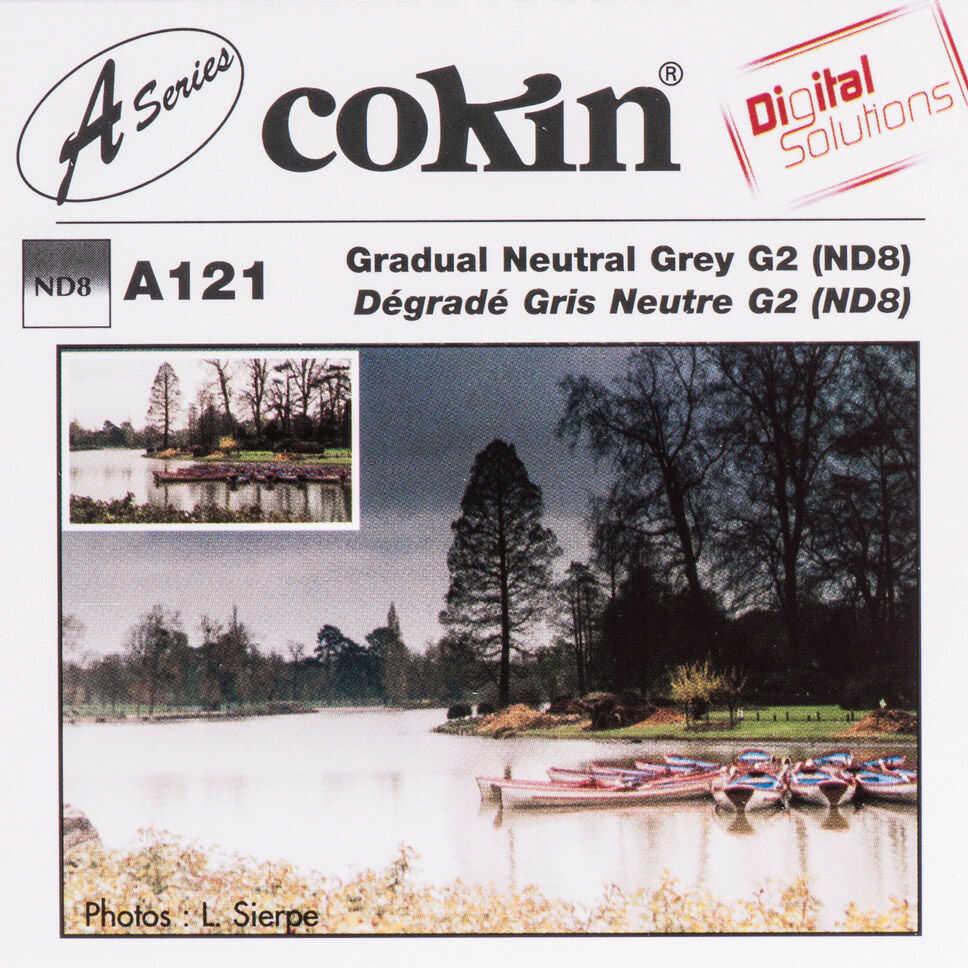 Filtr Cokin A121 rozmiar S połówkowy szary ND8