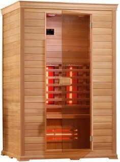 CLASSICO 1 Sauna na podczerwień 2-osobowa 130x100 cm D50530