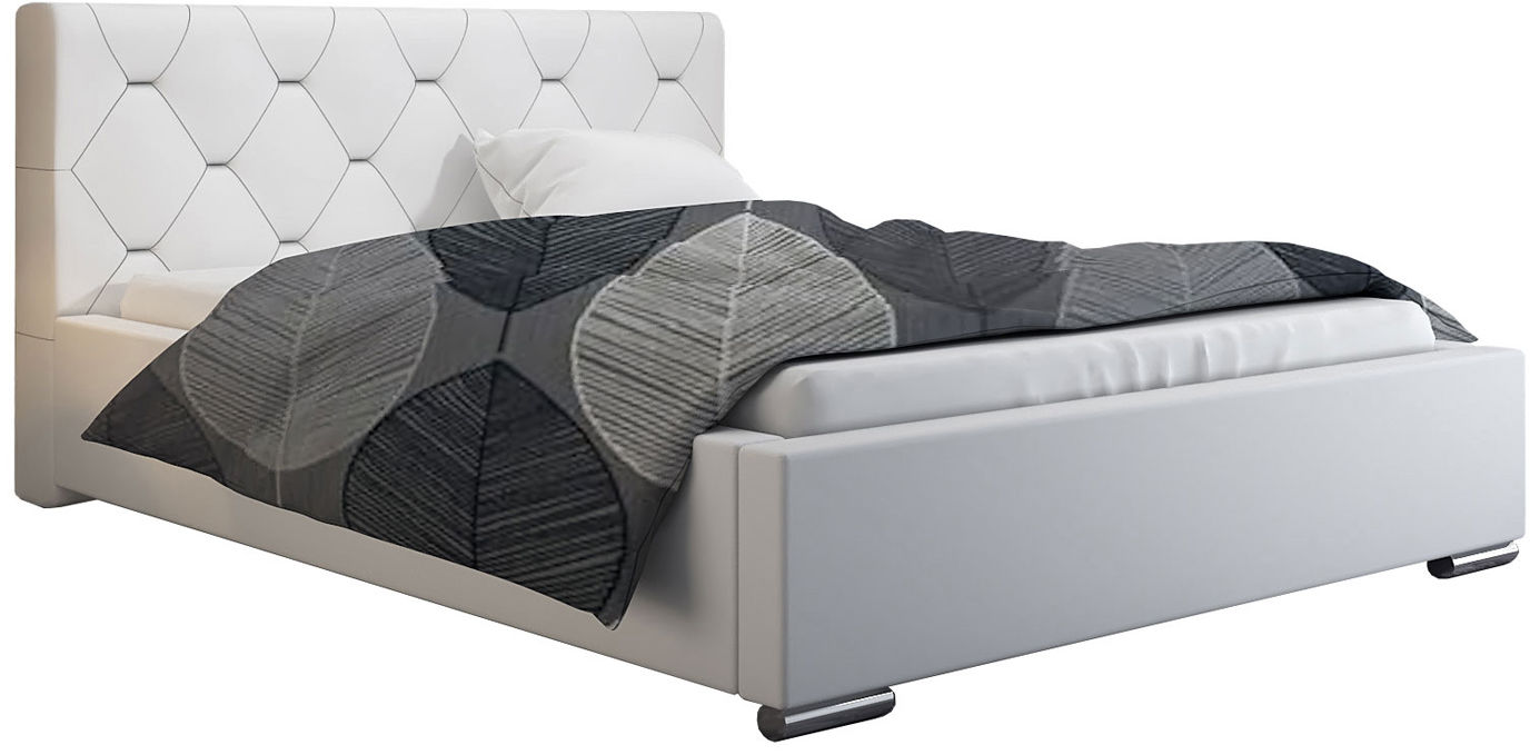 Podwójne łóżko ze stelażem 140x200 Abello 2X - 48 kolorów
