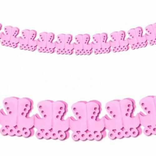 Girlanda z różowych wózeczków