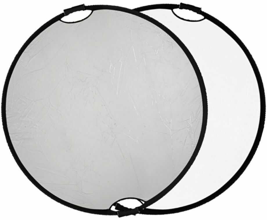 Quadralite Blenda z uchwytem srebrno-biała 60 cm