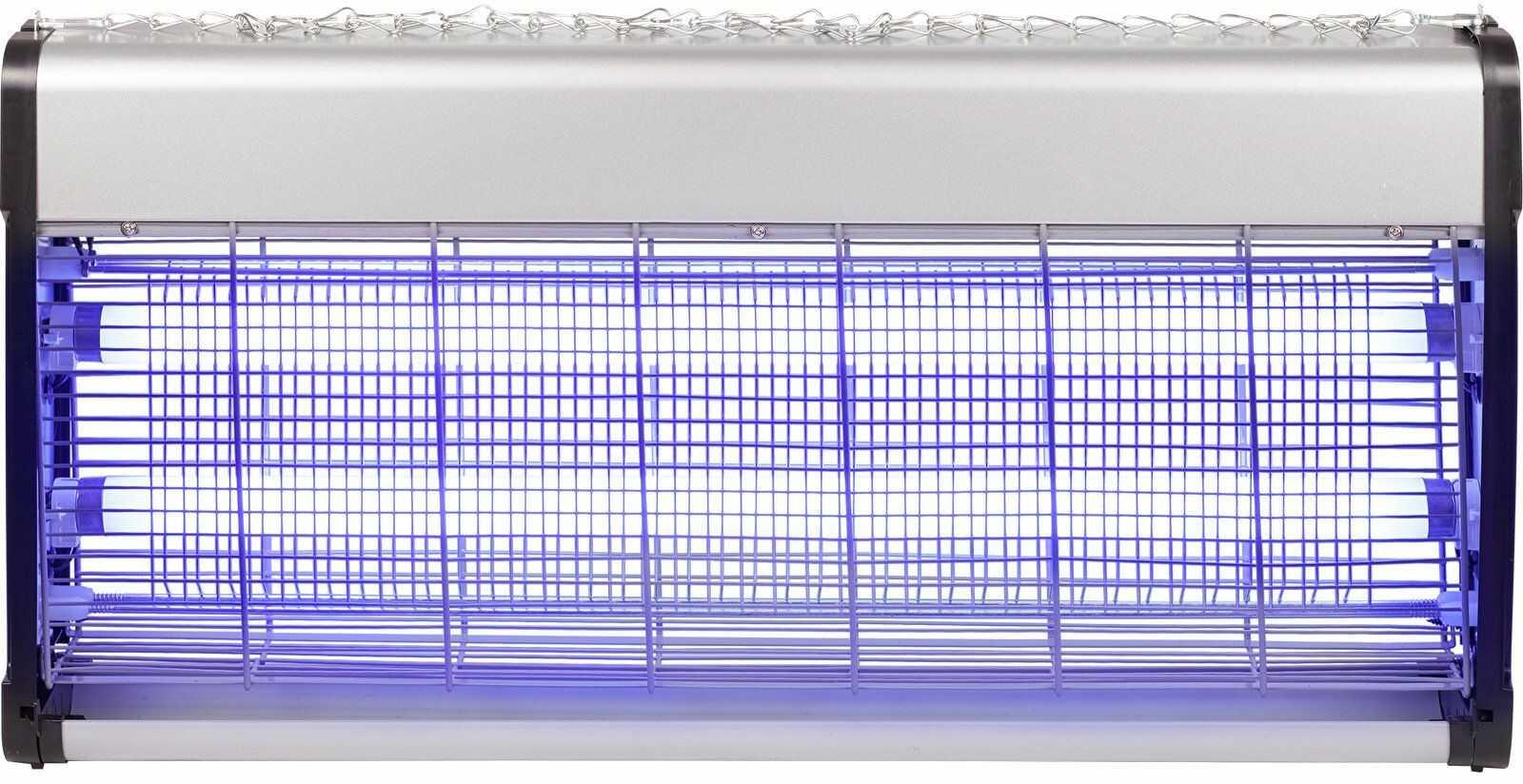 Lampa owadobójcza 40 W, 64 cm, srebrno/czarna