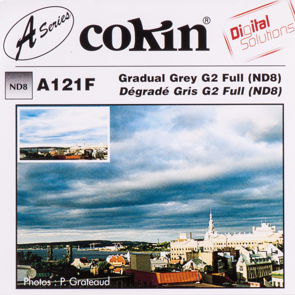 Filtr Cokin A121F rozmiar S gradacyjny szary G2