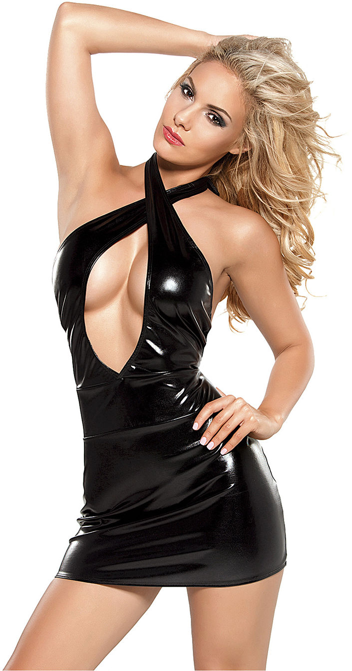 Allure Crisscross Dress Black