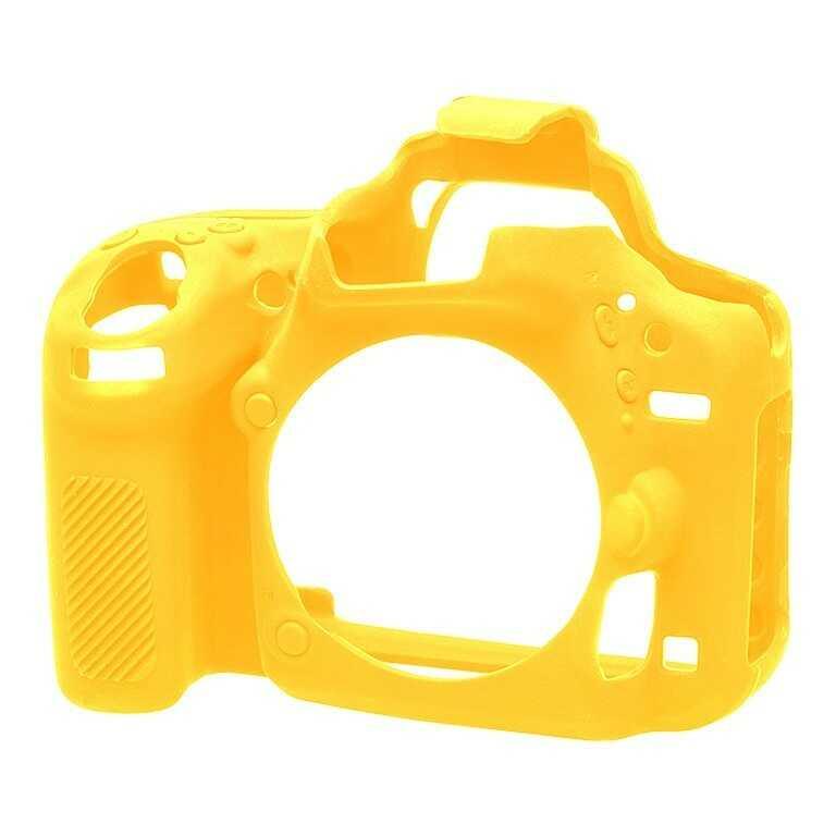 Osłona silikonowa easyCover do aparatu Nikon D750 żółta